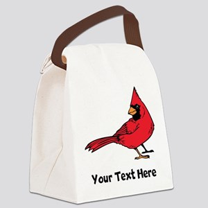 Red Cardinal (Custom) Canvas Lunch Bag