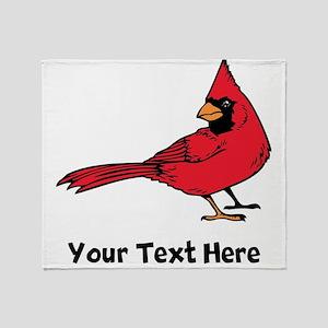 Red Cardinal (Custom) Throw Blanket