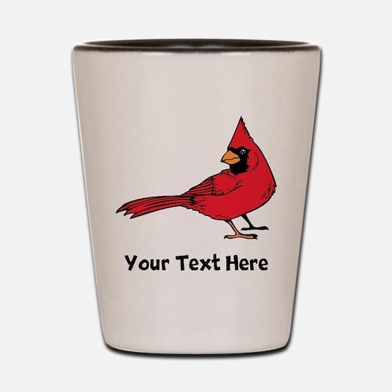 Red Cardinal (Custom) Shot Glass
