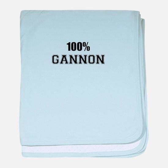 100% GANNON baby blanket