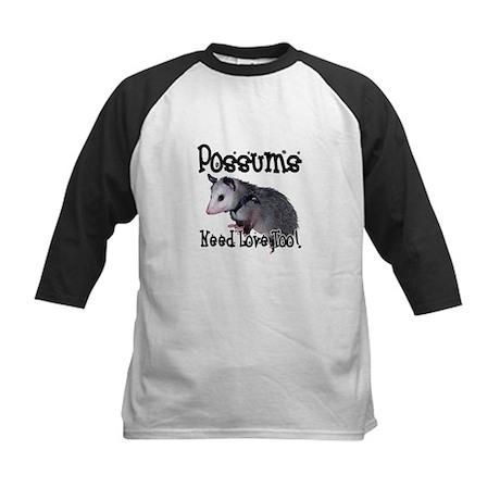 Possums Need Love Kids Baseball Jersey