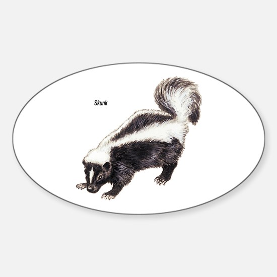 Skunk for Skunk Lovers Oval Decal