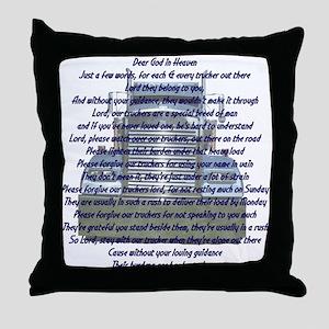 Dear God in Heaven Throw Pillow