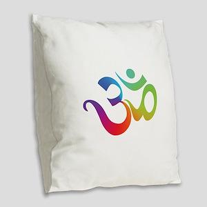 yoga2 Burlap Throw Pillow