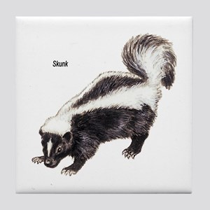 Skunk for Skunk Lovers Tile Coaster
