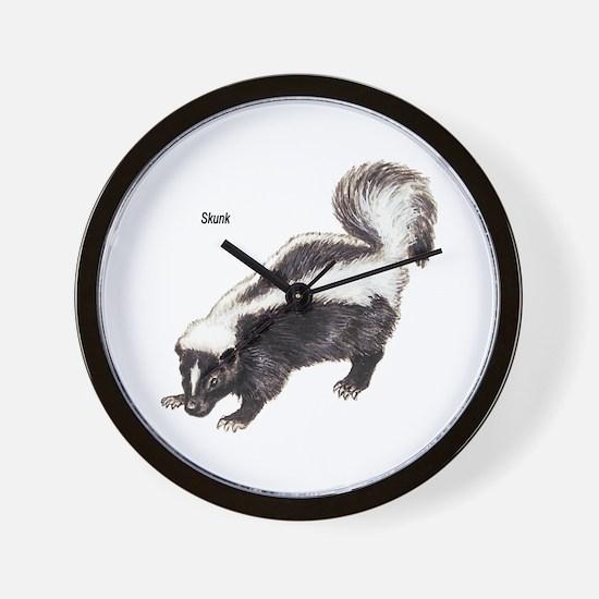 Skunk for Skunk Lovers Wall Clock