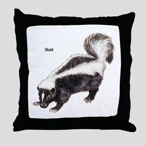 Skunk for Skunk Lovers Throw Pillow