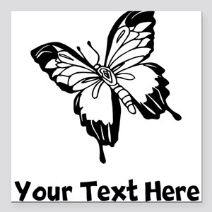 "Butterfly (Custom) Square Car Magnet 3"" x 3"""