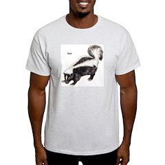 Skunk (Front) Ash Grey T-Shirt