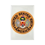 USS America (CVA 66) Rectangle Magnet
