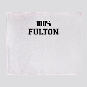 100% FULTON Throw Blanket