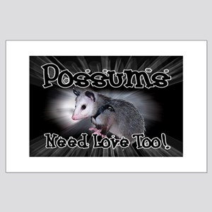 Possums Need Love Large Poster