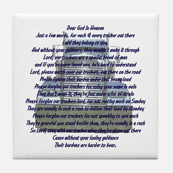 Dear God in Heaven Tile Coaster