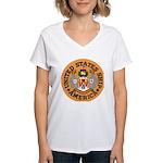 USS America (CVA 66) Women's V-Neck T-Shirt