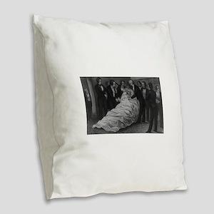 john quincy adams Burlap Throw Pillow