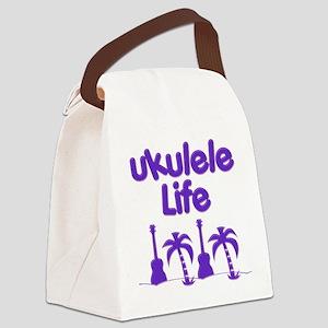 Purple Ukulele Canvas Lunch Bag