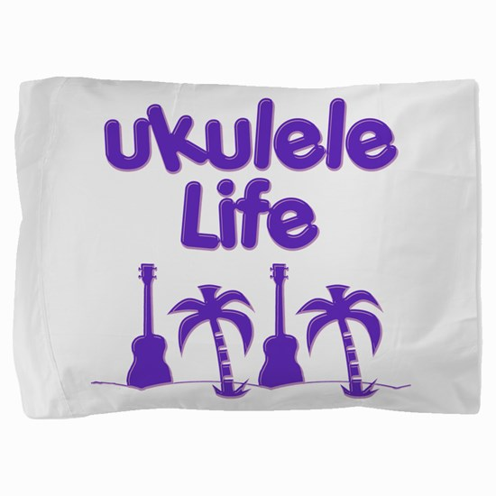 Purple Ukulele Pillow Sham