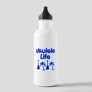 Blue Ukulele Water Bottle