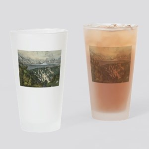 great salt lake Drinking Glass