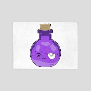 purple bottle 5'x7'Area Rug