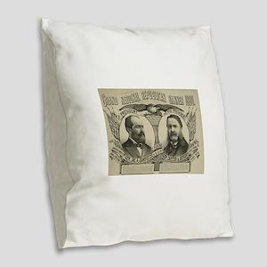 1880 Burlap Throw Pillow