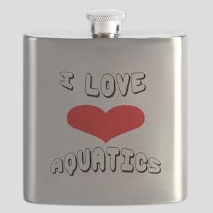I love Aquatics Games Flask