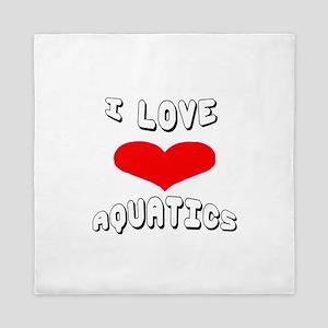I love Aquatics Games Queen Duvet
