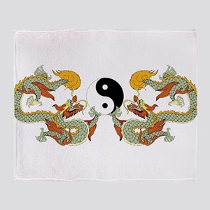 10xyingyangdragons Throw Blanket