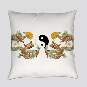 10xyingyangdragons Everyday Pillow