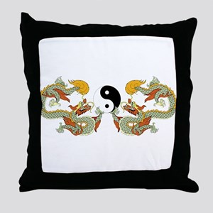 10xyingyangdragons Throw Pillow