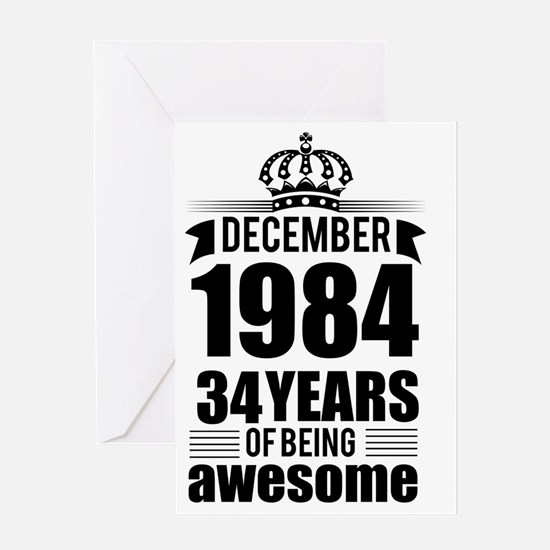 Funny 34th anniversary Greeting Card