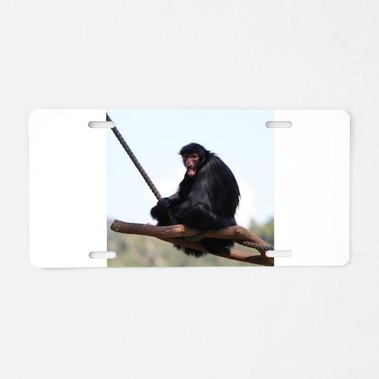 spider monkey Aluminum License Plate