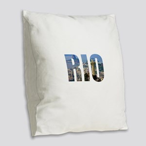 Rio Burlap Throw Pillow
