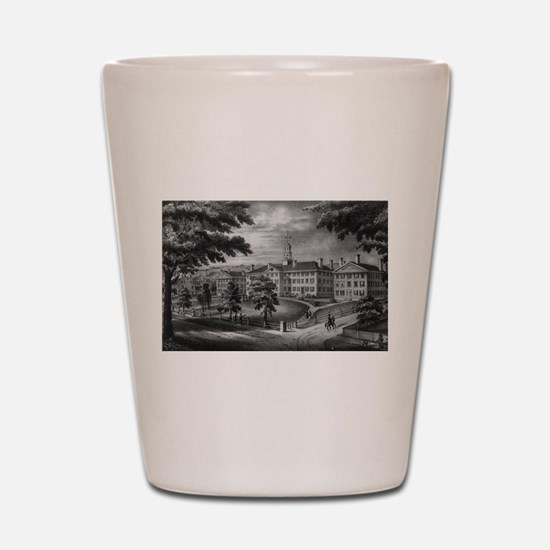 dartmouh hall Shot Glass
