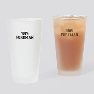 100% FOREMAN Drinking Glass