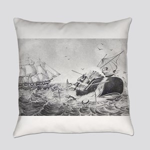 whaling Everyday Pillow