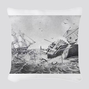 whaling Woven Throw Pillow