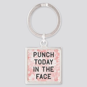 Punch Today Square Keychain
