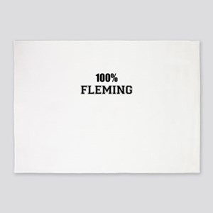 100% FLEMING 5'x7'Area Rug