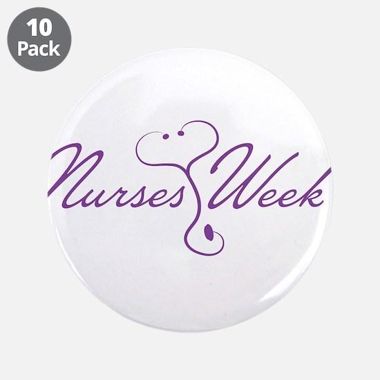 "Nurses Week Love 3.5"" Button (10 pack)"