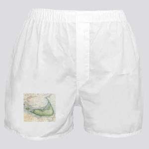 Vintage Map of Nantucket (1857) Boxer Shorts