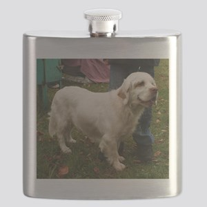 clumber spaniel full Flask
