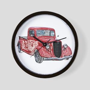1935 Ford Pickup Truck Wall Clock
