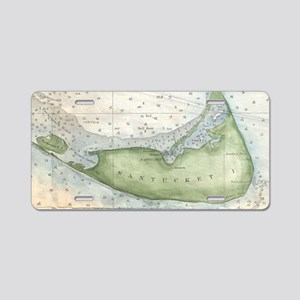 Vintage Map of Nantucket (1 Aluminum License Plate