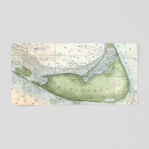 Vintage Map of Nantucket (1 Aluminum License Plate
