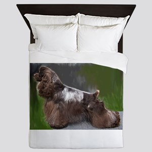 cocker spaniel full Queen Duvet