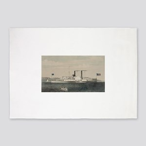isaac newton steamship 5'x7'Area Rug