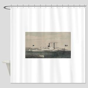 isaac newton steamship Shower Curtain