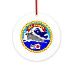 USS Bairoko (CVE 115) Ornament (Round)