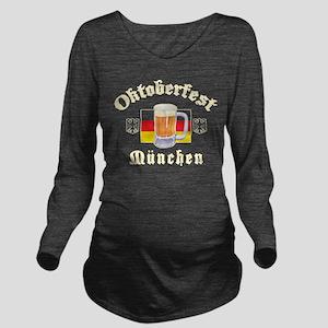 oct183black Long Sleeve Maternity T-Shirt